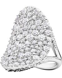 "Paul Morelli - 18k White Gold & Diamond ""confetti"" Saddle Ring - Lyst"