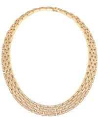 """Cartier - 18k Gold & Diamond """"maillon Panthère"""" Link Necklace - Lyst"""