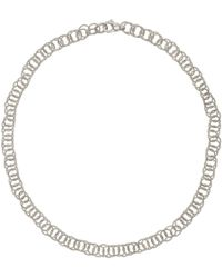 "Buccellati - 18k White Gold ""honolulu"" Link Necklace - Lyst"