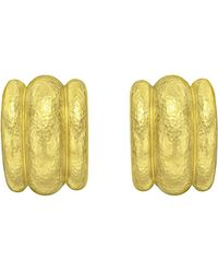 "Elizabeth Locke - 19k Yellow Gold ""amalfi"" Hoop Earrings - Lyst"