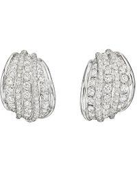 Repossi - 18k White Gold & Diamond Five-row Earclips - Lyst