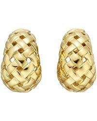 """Tiffany & Co. - 18k Yellow Gold """"vannerie"""" Half-hoop Earrings - Lyst"""