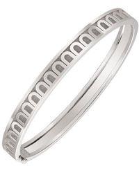 "Davidor - 18k White Gold ""l'arc"" Bangle Bracelet - Lyst"