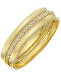 Cartier - 18k Yellow Gold & Diamond Bangle - Lyst