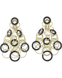 """Buccellati - 18k Yellow Gold & Onyx """"hawaii"""" Chandelier Earrings - Lyst"""