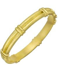 Elizabeth Locke - 19k Yellow Gold Double-banded Bangle - Lyst