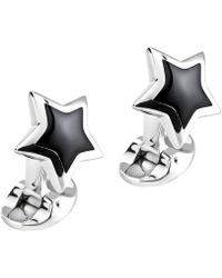 Deakin & Francis - Silver & Black Onyx Star Cufflinks - Lyst