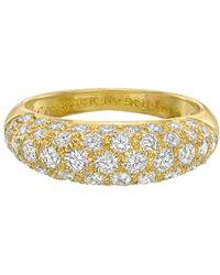 Van Cleef & Arpels - 5-row Diamond Domed Band Ring - Lyst
