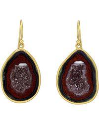 Kothari - 18k Yellow Gold & Tobasco Geode Drop Earrings - Lyst