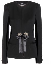 Alexander McQueen Wool and Velvet Blazer - Lyst