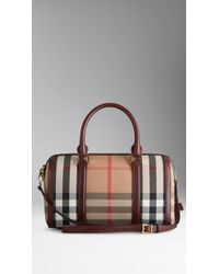 Burberry Medium Sartorial House Check Bowling Bag - Lyst