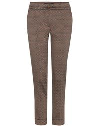 Etro Cropped Jacquard Trousers - Lyst