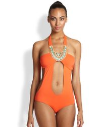 OndadeMar One-Piece Hand-Embroidered Monokini Swimsuit - Lyst