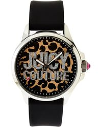 Juicy Couture 1901143 Silver-Tone & Black Watch - Lyst