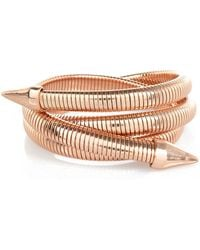 River Island Rose Gold Tone Slinky Coiled Arm Cuff - Lyst