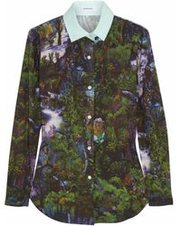 Carven Printed Cotton-poplin Shirt - Lyst