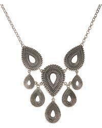 Lucky Brand - Silvertone Collar Necklace - Lyst
