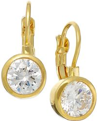 City By City - Gold-Tone Cubic Zirconia Small Drop Earrings (4-1/3 Ct. T.W.) - Lyst