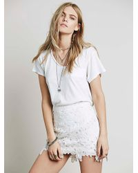 Free People Bella Donna Lace Mini white - Lyst