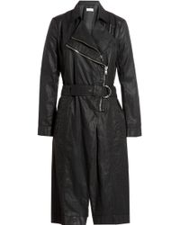 Helmut Lang Coated Trench Coat - Lyst