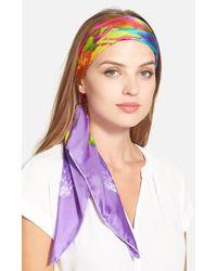 Lauren by Ralph Lauren | Silk Square Scarf - Purple | Lyst