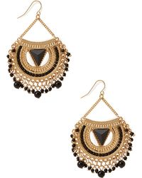 Forever 21 Fringed Crescent Drop Earrings - Lyst
