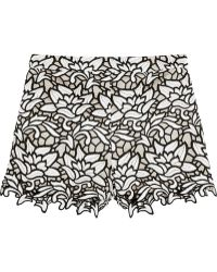 Alice + Olivia Embroidery Lace High Waist Shorts black - Lyst