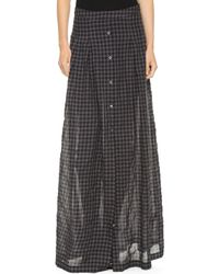 Tess Giberson - Long Skirt With Placket - Lyst
