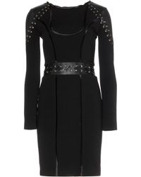 Emilio Pucci Stretch Dress with Leather - Lyst
