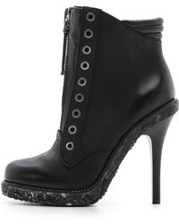 L.a.m.b. Dayton Zip Booties Black - Lyst