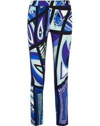 Emilio Pucci Printed Stretch-Cotton Straight-Leg Pants - Lyst