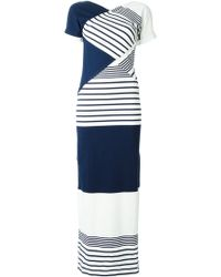 Jean Paul Gaultier Stripe Panel Maxi Dress - Lyst