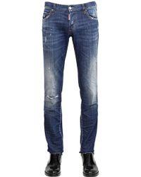 DSquared² 18Cm Slim Fit Press Wash Denim Jeans - Lyst