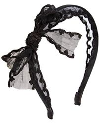 ASOS - Chic Lace Bow Headband - Lyst