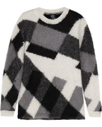 McQ by Alexander McQueen Intarsia Mohair Blend Sweater - Lyst