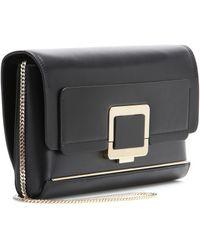 Roger Vivier Structured Leather Shoulder Bag - Lyst