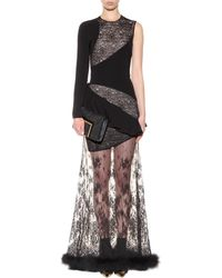 Alessandra Rich | One-Shoulder Constrast Gown  | Lyst