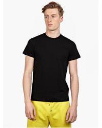 Jil Sander Men'S Black Cotton T-Shirt - Lyst