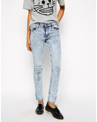 Cheap Monday Skin Used Tight Jeans - Lyst
