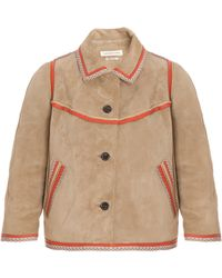 Etoile Isabel Marant Bolton Suede Jacket - Lyst
