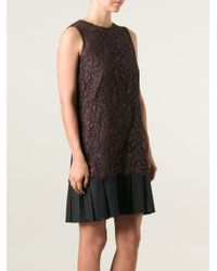 Dolce & Gabbana Layered Floral Lace Dress - Lyst