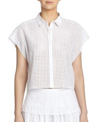 Rag & Bone Lakewood Eyelet Top - Lyst