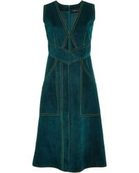 Derek Lam Suede Dress with Keyhole Front - Lyst