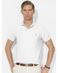 Polo Ralph Lauren Slim-Fit Mesh Polo - Lyst
