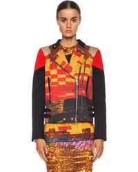 Givenchy Mosaic Print Moto Cotton Jacket - Lyst