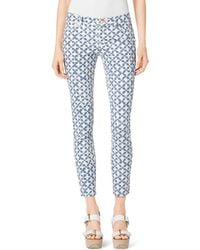 Michael Kors Printed Cropped Jeans - Lyst