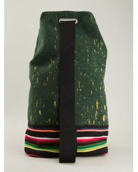 Raf Simons Speckled and Striped Bottom Backpack - Lyst