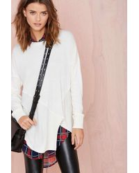 Nasty Gal Off Kilter Sweater - Lyst
