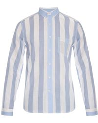 AMI Striped Cotton Shirt - Lyst
