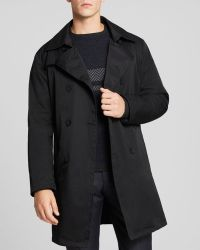 Armani Blue Impermeabile Trench - Lyst